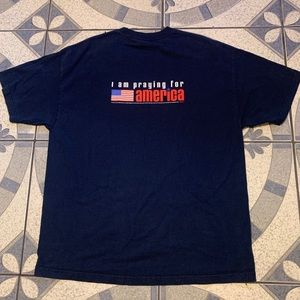 Vintage Pray For America Spellout Graphic Tee XXL